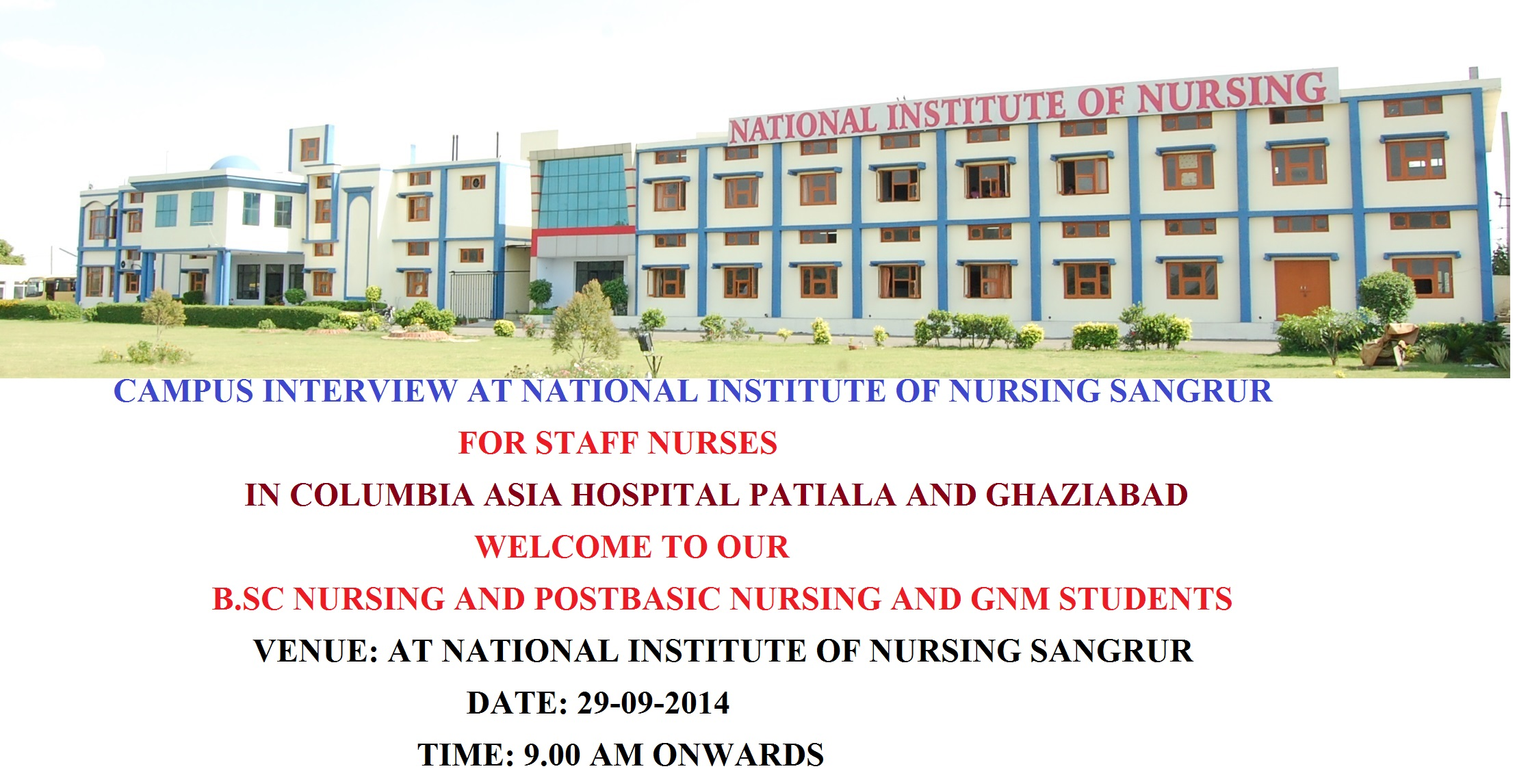 national institute of nursing blog archive campus interview campus interview for staff nurse in columbia asia hospital