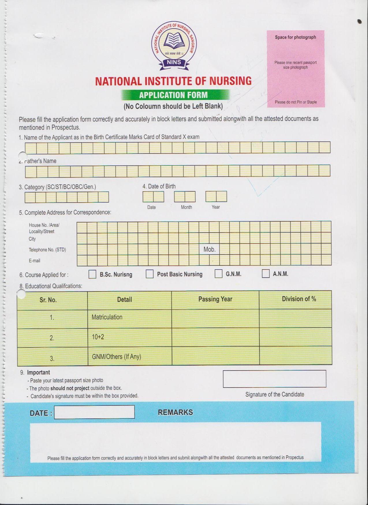 download nursing forms 2015 full pdf book up staff. Black Bedroom Furniture Sets. Home Design Ideas